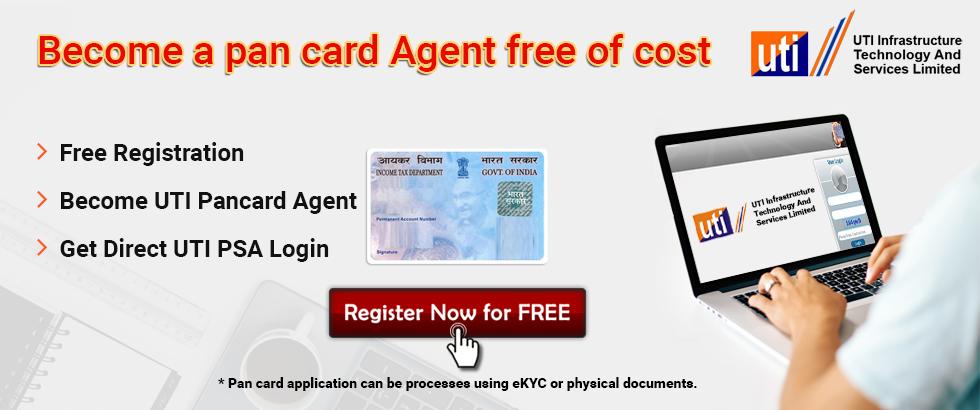 UTI Pancard Agent Registration   UTI PSA Registration