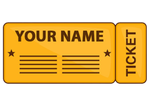 Your name printed on ticket